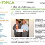 """inTopic.it """"Cortinametraggio: Premio Speciale Regione Veneto al regista padovano Carlo Fracanzani"""""""