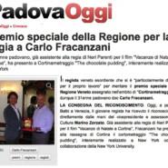 """Padova Oggi """"Premio speciale Regione Veneto al padovano Carlo Fracanzani"""""""