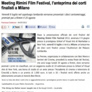 "Best movie ""Meeting Rimini Film Festival, l'anteprima dei corti finalisti a Milano"""