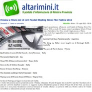 "Altarimini.it ""Preview a Milano dei 10 corti finalisti Meeting Rimini Film Festival 2012"""