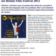 """""""Meeting, i riflettori si accendono sul Rimini Film Festival 2012 """""""